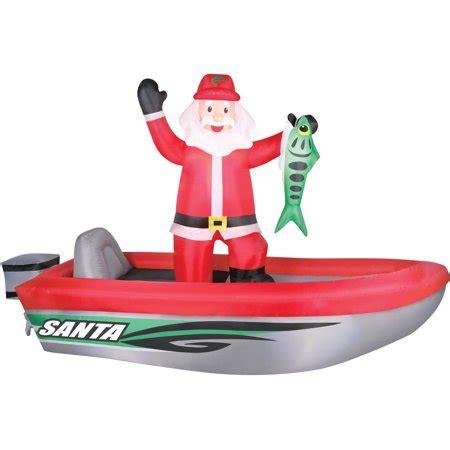 inflatable santa in boat time airflowz 10 santa in boat walmart