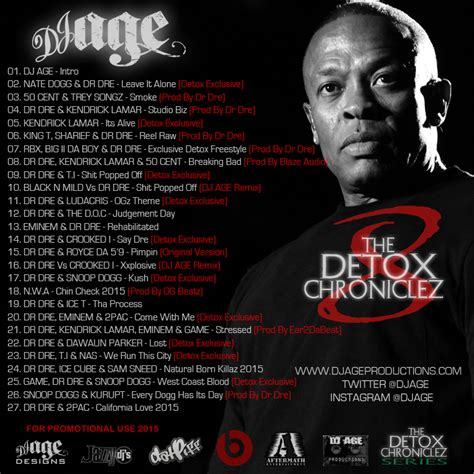 Detox Chroniclez Vol 1 by Dj Age