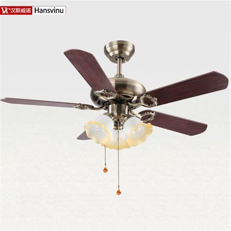 Modern Ceiling Fans Without Lights Wood And Metal Bronze Color Modern Ceiling Fans With E27 Lights 108cm Shipping Without