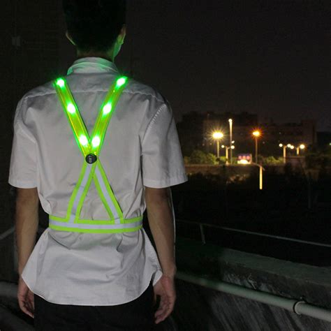 usb rechargeable light  glowing suspenderssafety vest