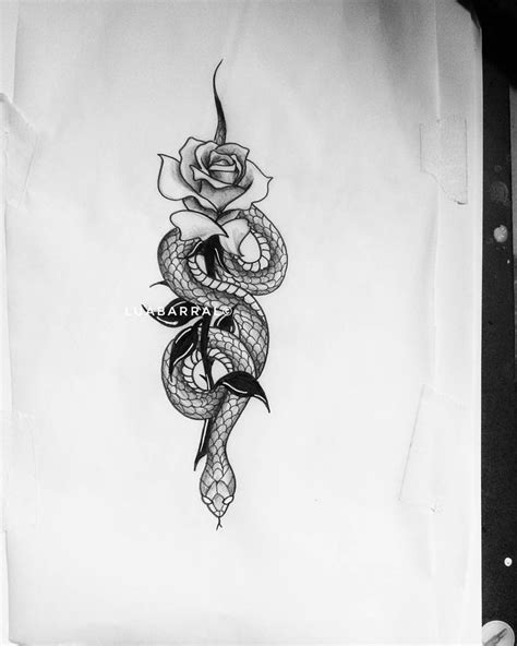 snake and rose tattoo cobra serpente rosa flor tatuagem patterns