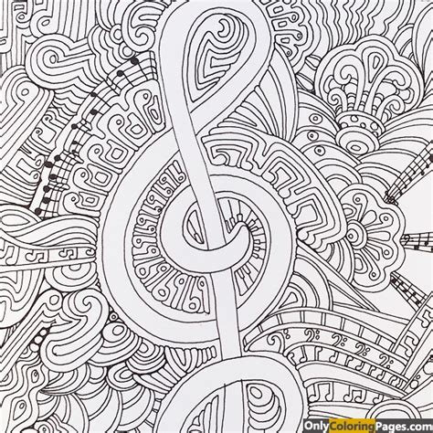 Printable Zen Art | zen art musical coloring pages free printable online zen