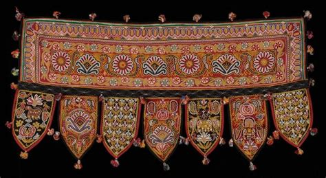 Toran With Paper - toran embellished indian door hanging textiles