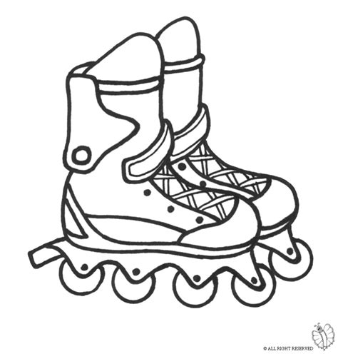 free roller blades coloring pages
