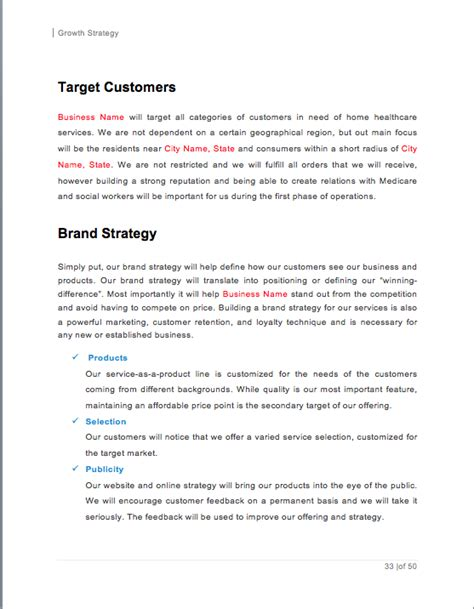 Home Health Care Business Plan Sle Pages Black Box Business Plans Home Care Business Plan Template