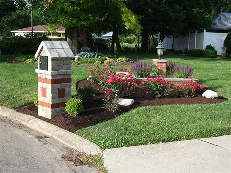 Mailbox Garden Ideas Landscaping Around Mailbox Oh Hardscape Design And Installation Wildes Lawn