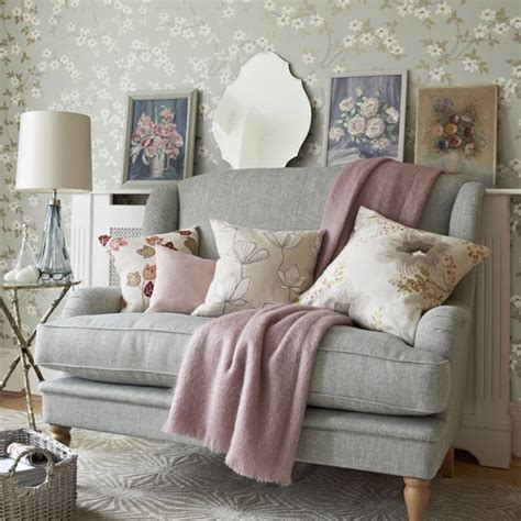grey wallpaper front room grey and pink living room pastel colour schemes