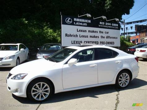 white lexus is 250 2008 2008 starfire white pearl lexus is 250 awd 10504487