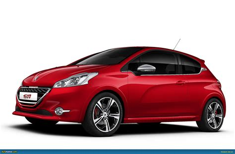 peugeot 208 red ausmotive com 187 peugeot 208 gti set for production