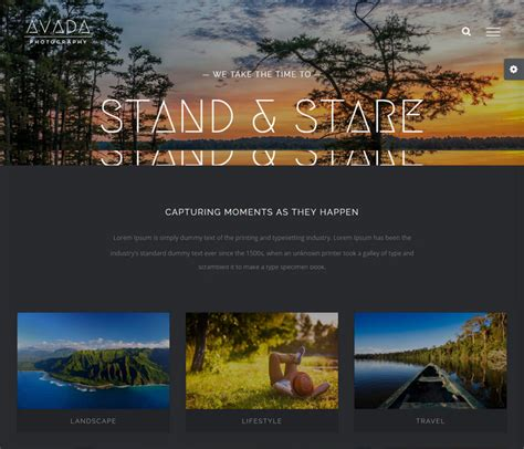 avada theme for photographers avada wordpress theme 5 0 review with 22 demo homepage layouts
