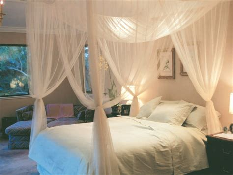 white canopy bed full 4 corner post bed canopy mosquito net full queen king size netting white black ebay