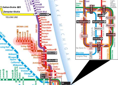 chicago brown line map brown line chicago map images