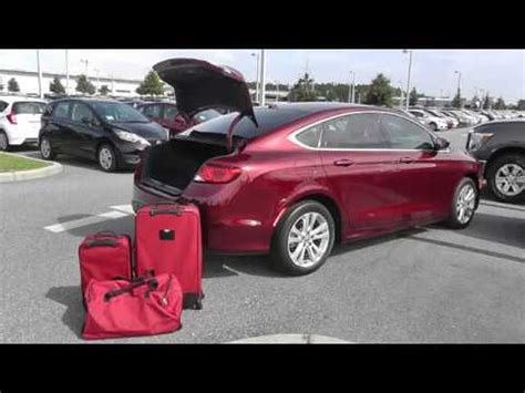 3 piece luggage test 2015 chrysler 200 limited youtube