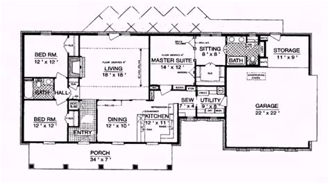 1800 square foot ranch house plans eplans cottage house plan versatile open layout 1800