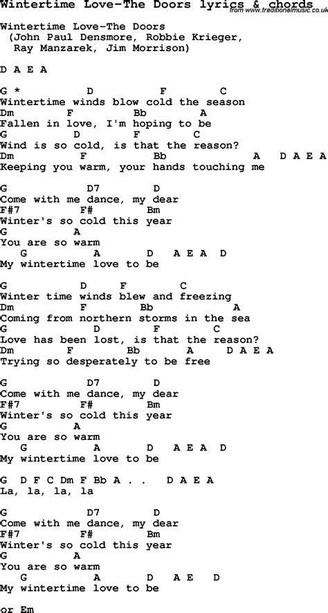 printable lyrics to love is an open door love song lyrics for wintertime love the doors with chords