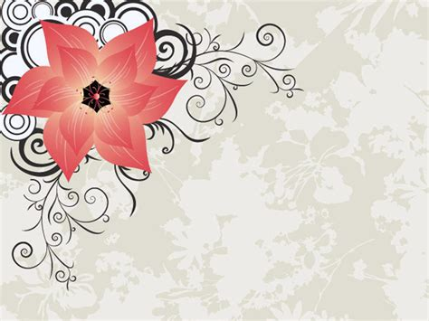 stylish flower powerpoint templates for powerpoint