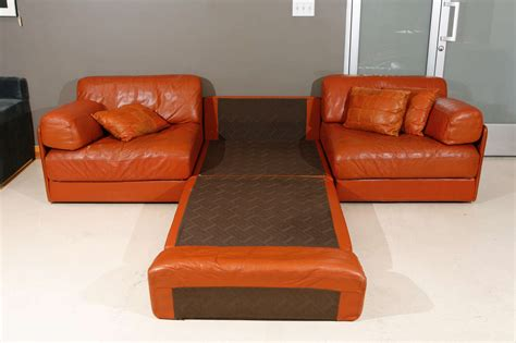 modular leather sectional sofa modular leather sleeper sofa by de sede at 1stdibs
