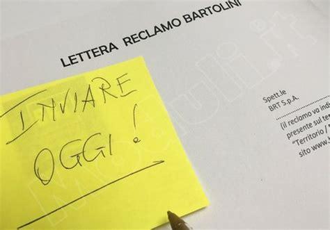 lettere reclamo lettera di reclamo bartolini