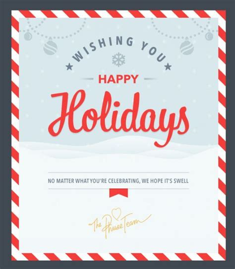 happy holidays email card template eblast search e blasts
