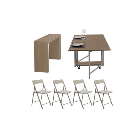 tavolo pieghevole con sedie archimede zeta set set consolle con tavolo pieghevole