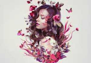 how to create a floral portrait photo manipulation in