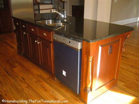 dishwasher and sink in island kitchen