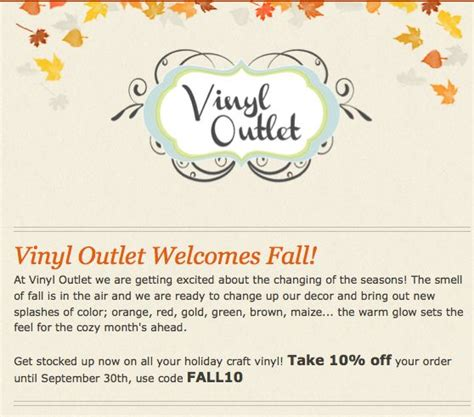 vinyl outlet coupons