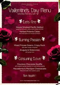 valentines day menu template v2 psd templates store