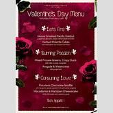 Templates / Valentine's Day Flyers / Valentines day Menu Template V2 ...
