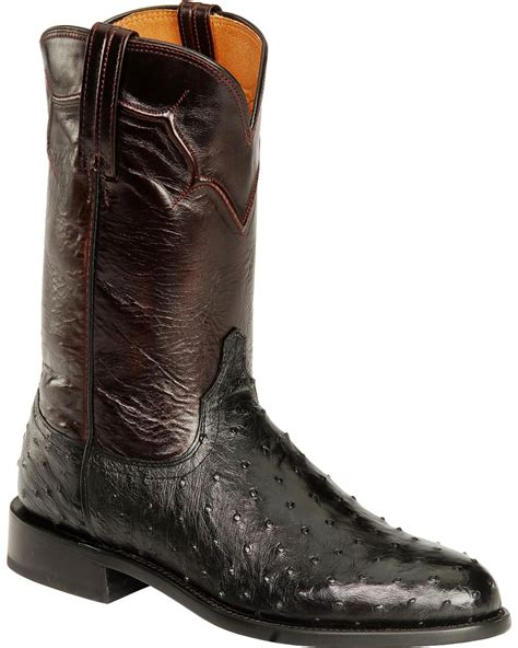 ostrich quill mens boots lucchese s coleman quill ostrich western boots