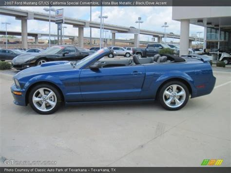 vista blue mustang 2007 ford mustang gt cs california special convertible in