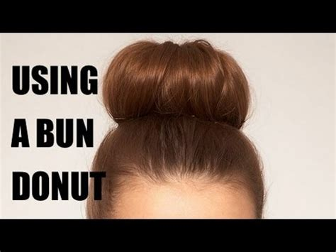 different ways to use the bun maker how to use a bun donut to create an updo youtube