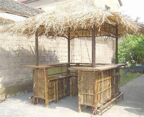 tahiti natural bamboo tiki style bar hut  sink ft