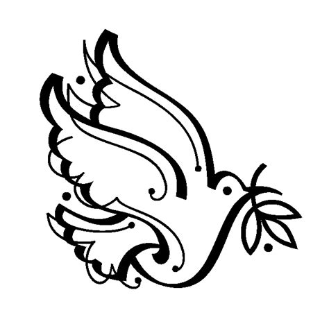 peace dove template coloring home