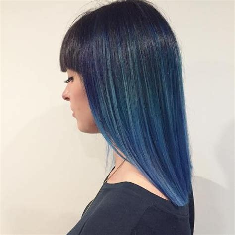 Black And Blue Hairstyles by 10 Intriguing Blue Hairstyles And Color Ideas 2018 Hair