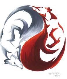 yin yang kitsune by rhpotter on deviantart