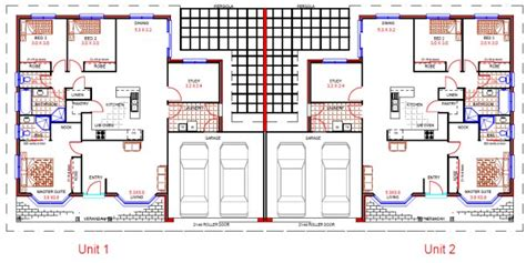 up down duplex floor plans australian duplex plan no 350 du 6 bed 2 study 4