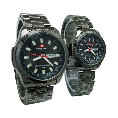 Jam Tangan Guess Tanggal Black harga swiss army sa 7565t tanggal hari jam tangan