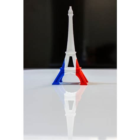 printable multi color eiffel tower french flag
