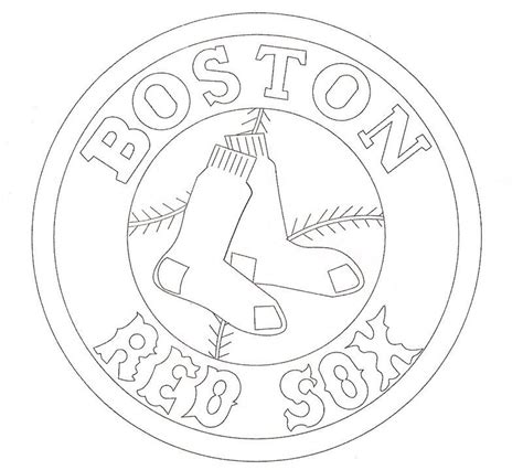 Boston Red Sox Logo Coloring Page Free Coloring Pages Wally Sox