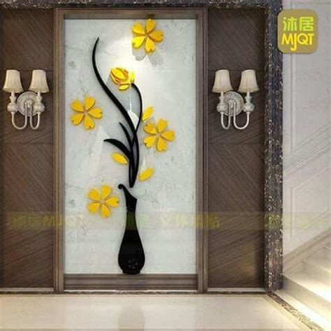 decorar pared amarilla decoraci 243 n de pared en madera flor amarilla renovar en