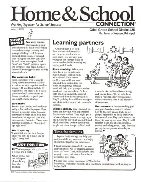 march school newsletter templates learning theory
