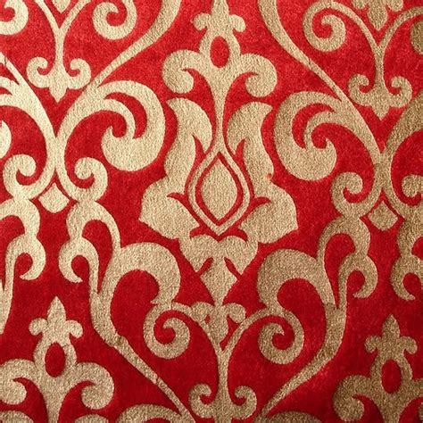 custom printed upholstery fabric red damask printed velvet fabric by the yardvelvet fabric