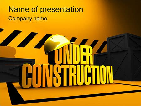 under construction powerpoint template backgrounds id