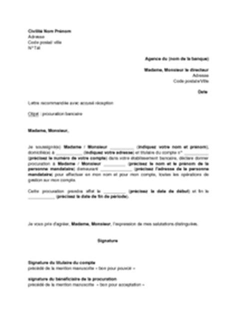 exemple lettre procuration