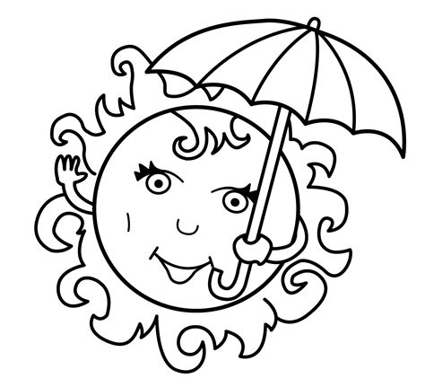 Sun Coloring Pages For Toddlers by Free Printable Summer Coloring Pages For