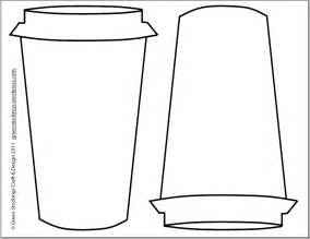 coffee cup template printable green craft design