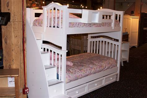 beds with stairs childs twin over full bunk bed with stairs and trundle