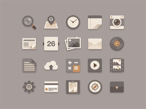 design ui icon flat ui and icon design by sunbzy