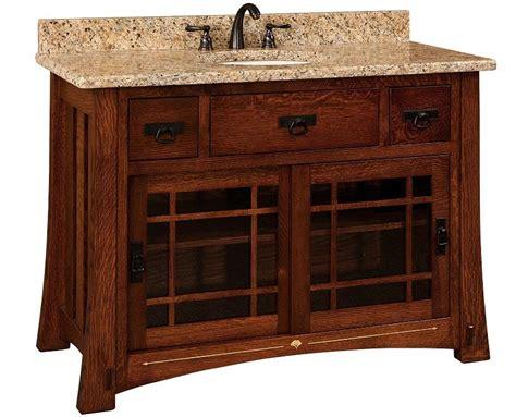 amish bathroom vanity cabinets amish 49 quot morgan single bathroom vanity cabinet with inlays